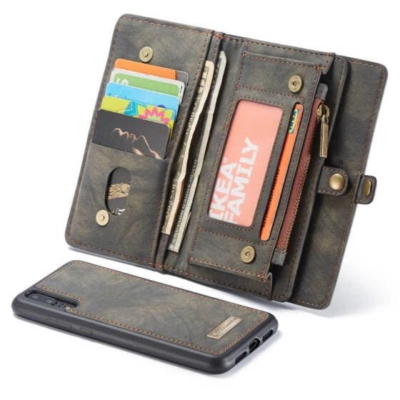 Shop Magnetic Flip Wallet Case For Huawei P20 Lite Pro