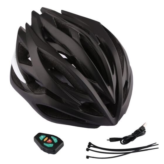 Wireless remote control LED warning helmet for bicycle riding