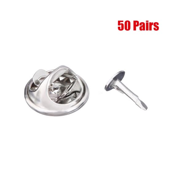 Shop 50 Pairs Clutch Back Tie Tacks Pin Backs With Blank