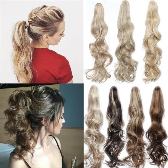 Magnificent Shop 24 26 Long Cute Curly Claw Clip Ponytail Extension Synthetic Natural Hairstyles Runnerswayorg