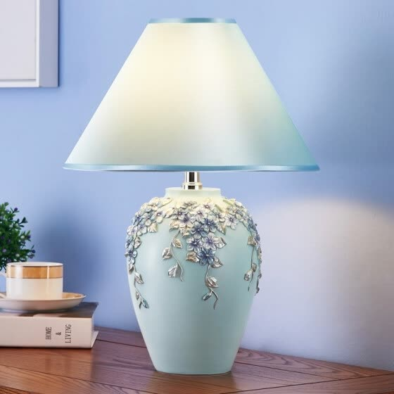Shop Hoshine Blue Flower Home Decoration Living Room Table Lamp