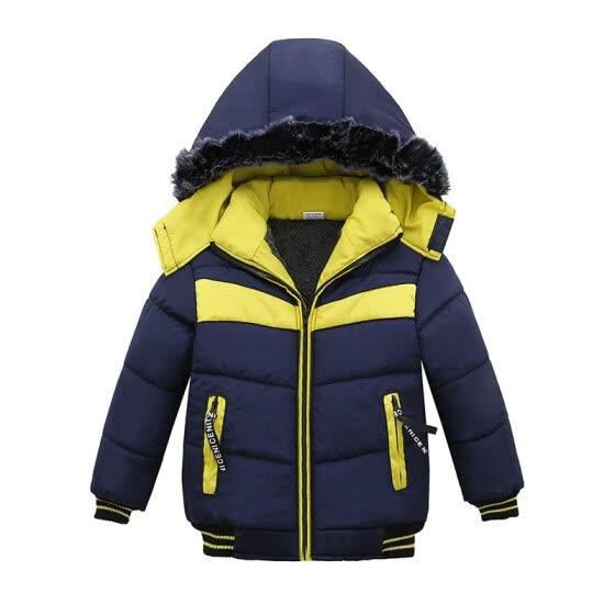 417b80bc9ebd Shop Winter Jacket For Boys Baby Fur Hooded Jacket Parkas Kids ...
