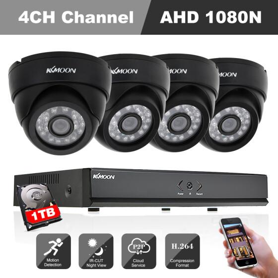 Shop KKmoon 4CH Channel Full AHD 1080N DVR 1500TVL CCTV Surveillance