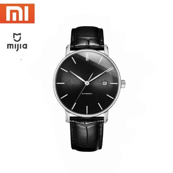 Original xiaomi mijia TwentySeventeen Mechanical watch With Sapphire Surface Leather Strap Fully automatic mechanical movement
