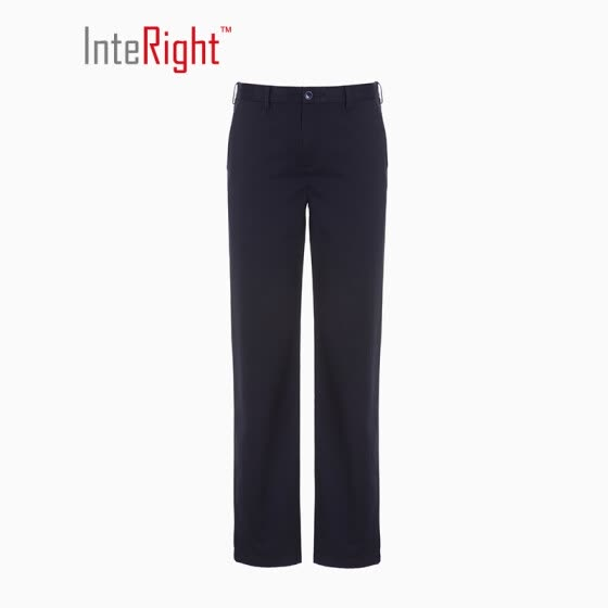 INTERIGHT men's business casual pants Slim DP free trousers navy blue XXL code 36