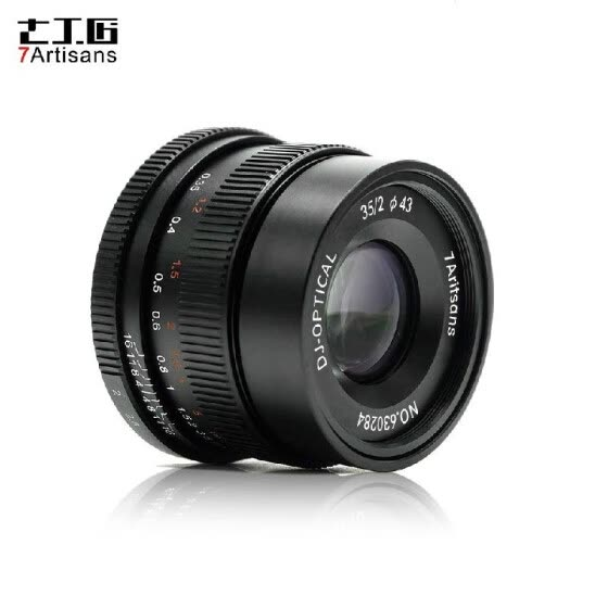 7artisans 35mm F2.0 Manual Focus Camera Lens Full Frame Large Aperture for Leica M2/M3/M4P/M5/M6/M7/M8/M9/M9P/M10/M240/M240P/M262