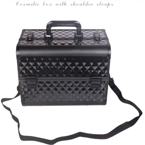 Aluminium PVC Nail Toolbox Make Up Beauty Case Cosmetic Bag Multi Tiers  Lockable Jewelry Box Gift a2bc347a3c1cb