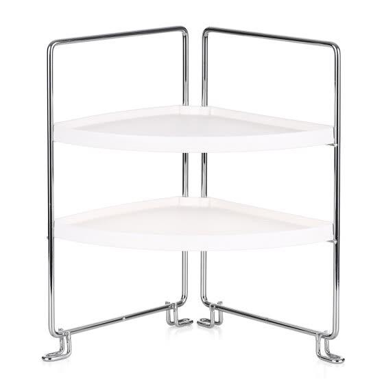 Shop 2 Tier Corner Freestanding Stackable Organizer Shelf For