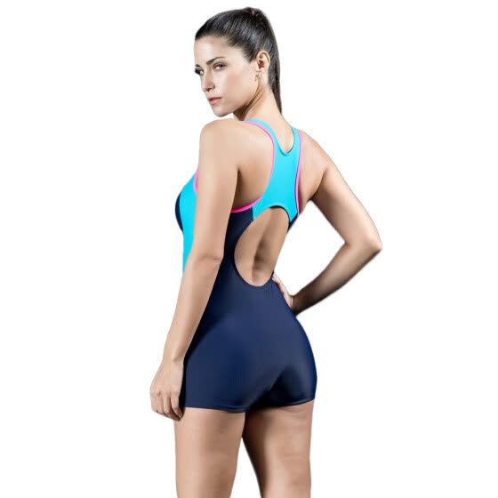 3a860d1cc Women Sports One Piece Swimsuit Swimwear Shorts Backless Bathing Suit  Swimming Suit Blue Red