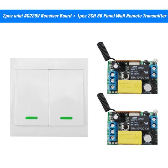 Shop 2PCS Wireless Remote Control Switch AC 220V Receiver