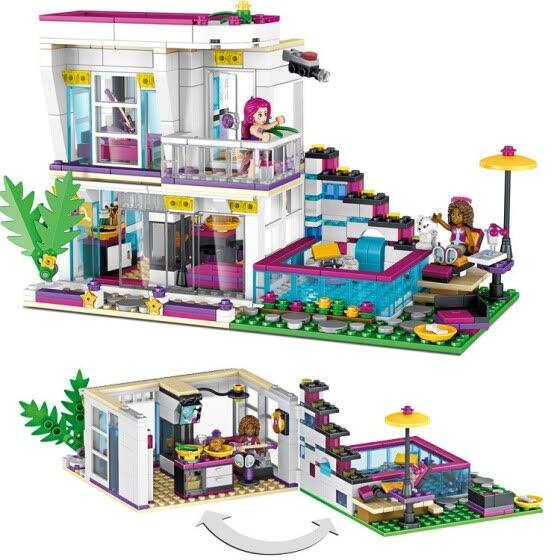 Shop Big Singer Livy's Home Builds Blocks Compatible with