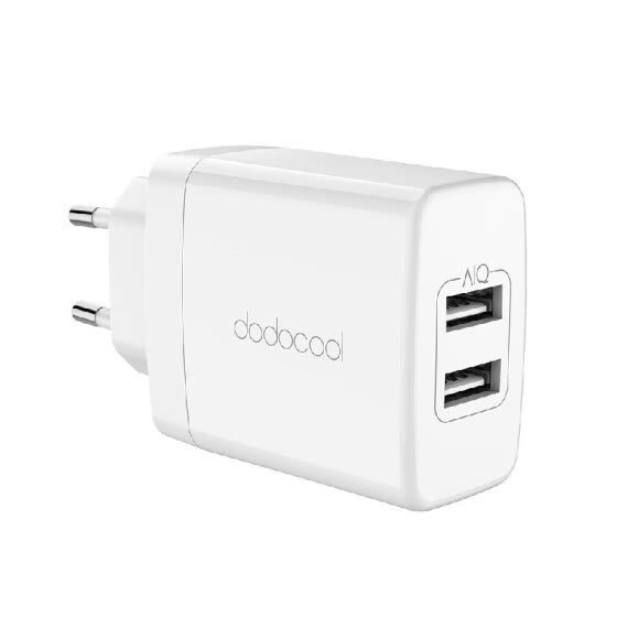 dodocool 24W 2-Port USB Wall Charger Travel Power Adapter with Foldable Plug for Samsung Galaxy S8 / iPhone X / iPhone 8 Plus / On