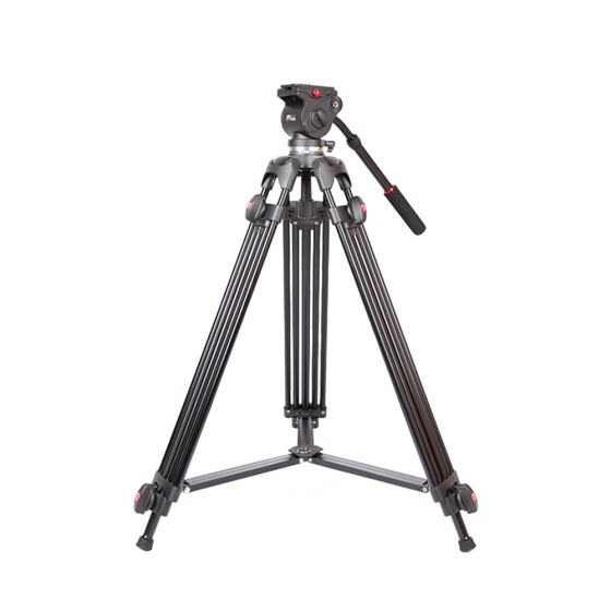 JY0508A 1.5m Foldable Telescoping Aluminum Alloy DSLR Camera Camcorder Video Tripod with Fluid Drag Head Padded Bag