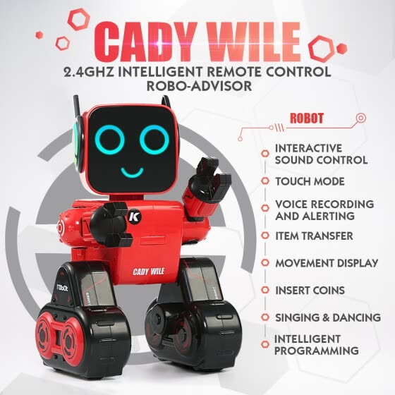 JJR/C R4 CADY WILE 2.4G Intelligent Remote Control Robot Advisor RC Toy Coin Bank Gift for Kids
