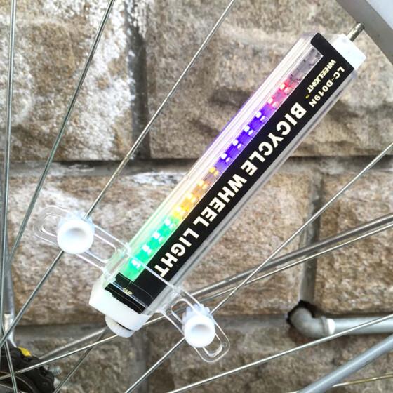 16 LED Colorful Patterns Bicycle Bike Cycling Wheel Spoke Lights Lamp Waterproof