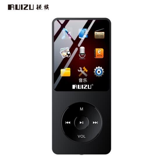Sharp (RUIZU) X02 8G черный с Bluetooth спортивный музыкальный проигрыватель MP3 / MP4 мини-студент Walkman портативная электронная книга Английский прослушиватель карт