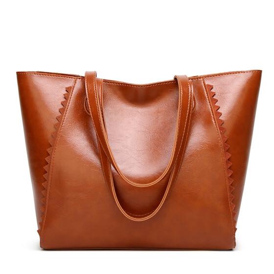 PU Leather Satchel Bag for Women Ladies Casual Work Tote Bag Women Top  Handle Shoulder Bag bacade313415b