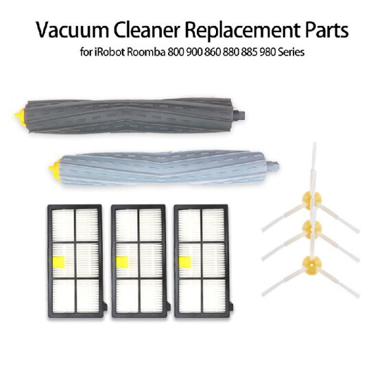Vacuum Parts Filter Side Brushes Accessory For iRobot Roomba 800 900 Series