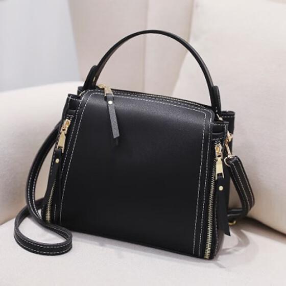 6c057ae28bd Shop Women Mini Bucket Handbags High Quality Leather Casual Tote Bag ...