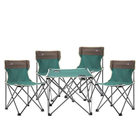 Outdoor chair and table set Leisure beach folding table and chair camping furniture five-piece suit