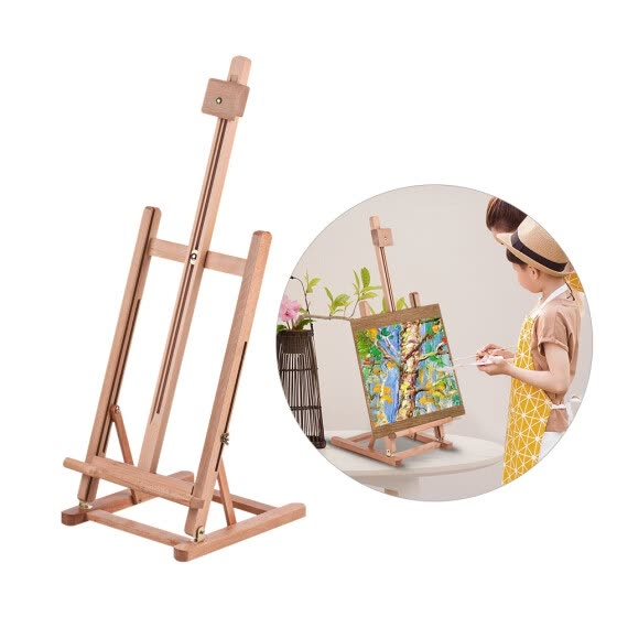 Shop Adjustable Tabletop H-frame Wood Easel Assembled High