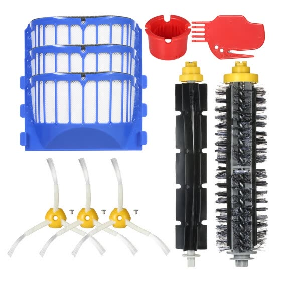 Pack of 10 Replacement Accessories Kit for iRobot Roomba 600 Series 690 691 694 650 651 664 615 601 630 Vacuum Cleaner-- Bristle B