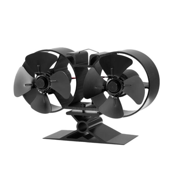 Shop 8 Blade Twin Motor Heat Powered Eco Fireplace Fan Fuel Cost