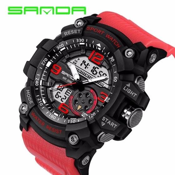 ecbb3cc571c SANDA Luxury Brand Men Women Sports Watches Digital LED Military Watch  Waterproof Outdoor Casual Wristwatches Relogio