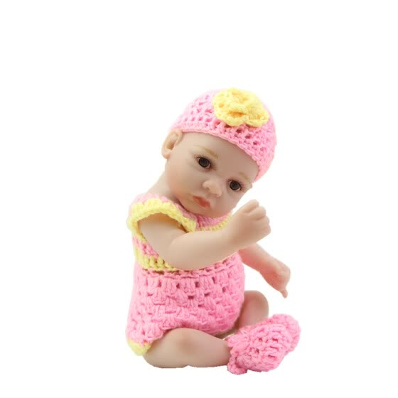 2016 New Arrival Girl Reborn Babies Lifelike 17 Inch 27 cm Fashion Newborn Dolls With Knitted Clothes Kids Birthday XMAS Gift