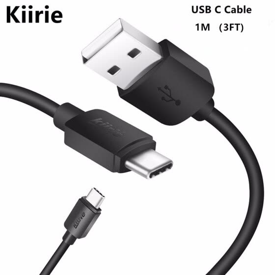 Kiirie USB Type C Cable, 1M/3.3FT USB Type A to Type C Data Charging Cable for Type C USB Devices