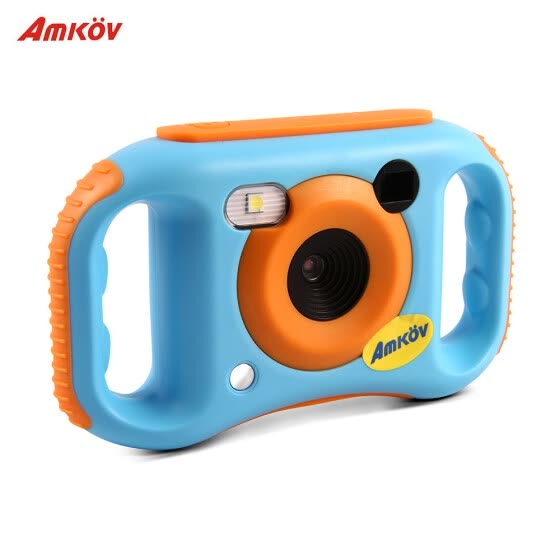 Amkov Kids Digital Video Camera WiFi Connection Max. 5 Mega Pixels Built-in Lithium Battery Christmas Gift New Year Present for Ch