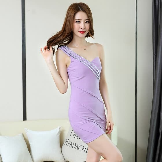 97304818c944 Night sexy 2018 women s new slim waist covered belly dress fashion  temperament tight package hip summer