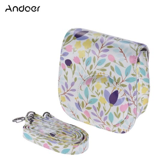 Andoer PU Protective Camera Case Bag Pouch Protector for Fujifilm Instax Mini 8+/8s/8/9