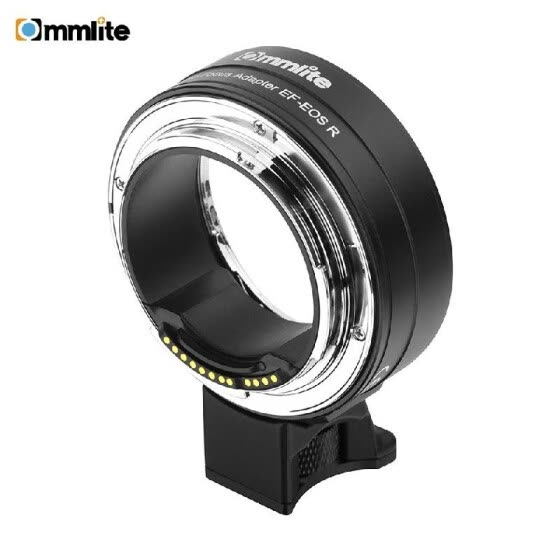 Commlite CM-EF-EOS R Lens Mount Adapter Electronic Auto Focus Mount Adapter with IS Function Aperture Control for Canon EF/EF-S Le