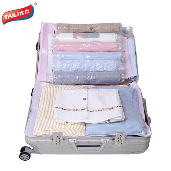 Too vacuum compression bag travel storage bag clothing underwear suitcase finishing bag hand roll pressure 10 sets