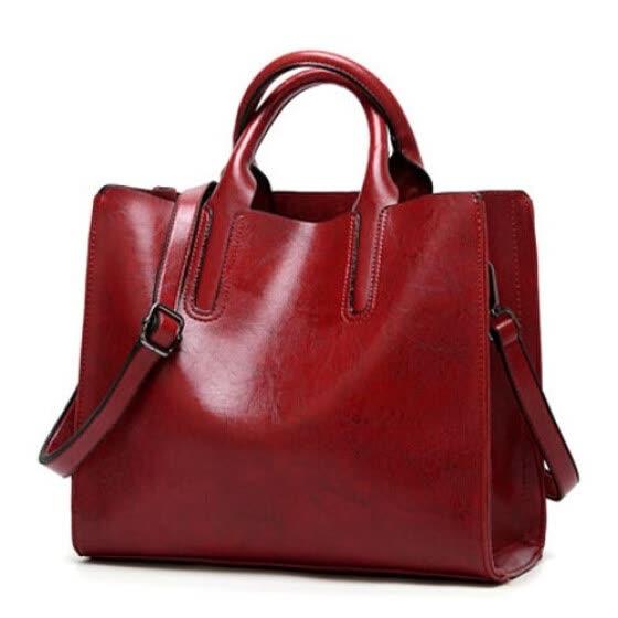 aca058795 Mujeres cera de aceite de cuero bolsos de hombro bolsos de diseñador de la  vendimia bolso