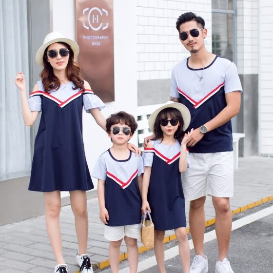 971f3c7be3 Family matching mother daughter father son dad mommy and me clothes family  look girls korean clothing