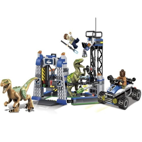 New Jurassic Raptor Escape Dinosaur Small Particle Block Enlightenment Toy for Boys 7-10 Years Old