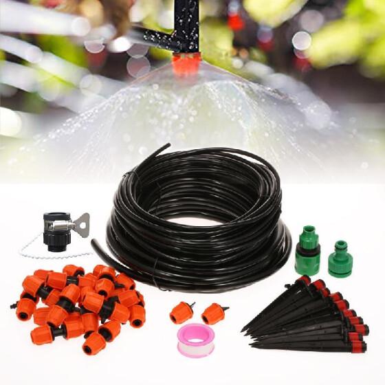 30 Pcs Misting Nozzle Sprinkler for Outdoor Cooling System 1//4 Distribution Tubing