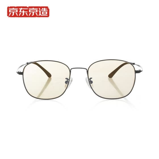 Beijing Tokyo anti-blue glasses goggles men and women couple titanium alloy aviation titanium mirror legs oval frame titanium silver