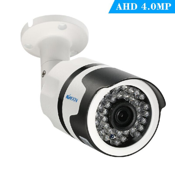 KKMOON 4pcs 720P AHD CCTV Dome Camera 60ft Cable IR Night Vision Security System