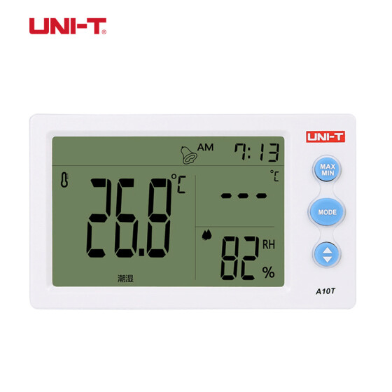 UNI-T A12T Weather Station Digital LCD Temperature Hygrometer Thermometer Clock