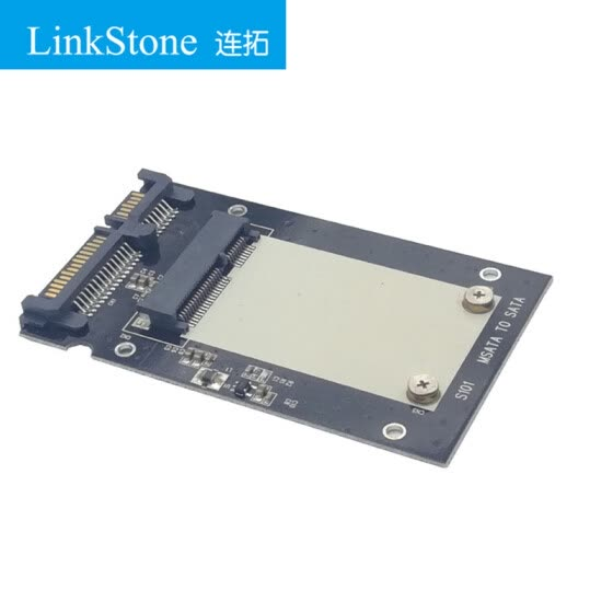 LinkStone MSATA to SATA Solid State Drive Adapter Compatible with SSD Solid State Drive Black S101-1M