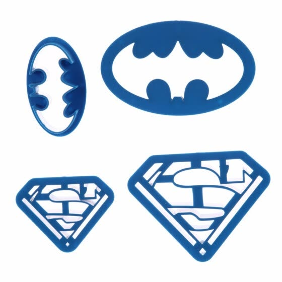 4PCS Cookie Cutters Super Hero Batman Superman Mould Sugarcraft Fondant Cake Decoration Kitchen Baking Pastry Tools