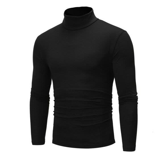 Men's Winter Warm Cotton High Neck Pullover Jumper Sweater Tops Turtleneck