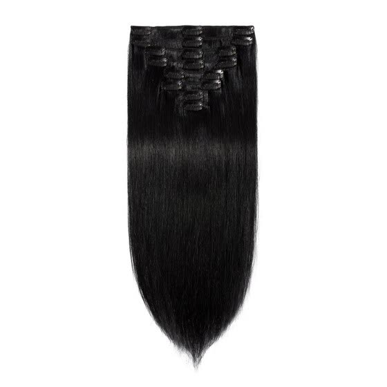 100% Remy Human Hair Extensions Clip in Hair Grade 7A Quality Full Head 8pcs 18clips Long Soft Silky Straight for Women