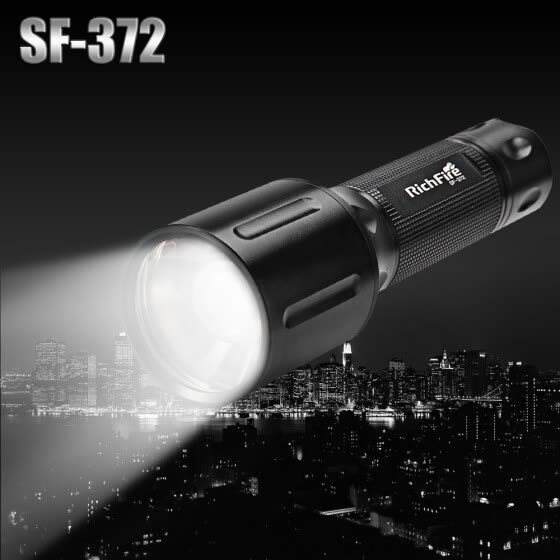 RichFire SF - 372 Cree XM-L2 U2 800lm 5-Mode White Zooming Flashlight with Memory Function ( 1 x 18650 / 3 x AAA Battery )