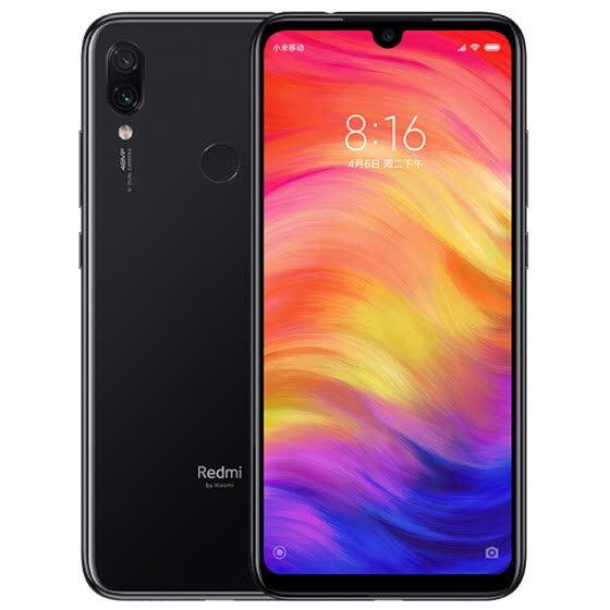Millet red rice Redmi Note7 AI double camera 4GB+128GB bright black full Netcom 4G dual card dual standby water drop full screen photo game smartphone