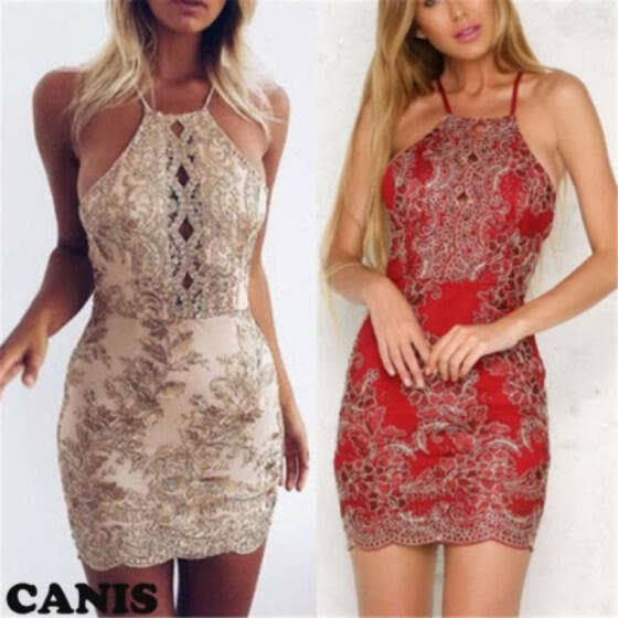 New Women's Summer Casual Sleeveless Evening Party Beach Dress Mini Lace Dress