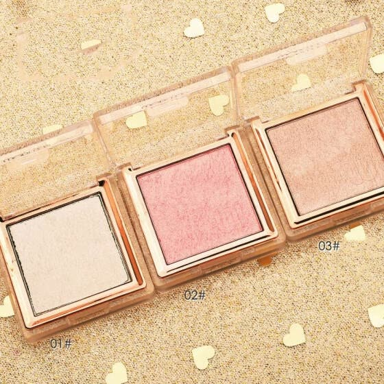 single color professinal face makeup  bronzer and highlighter palette powder make up glow kit highlighter contour palette